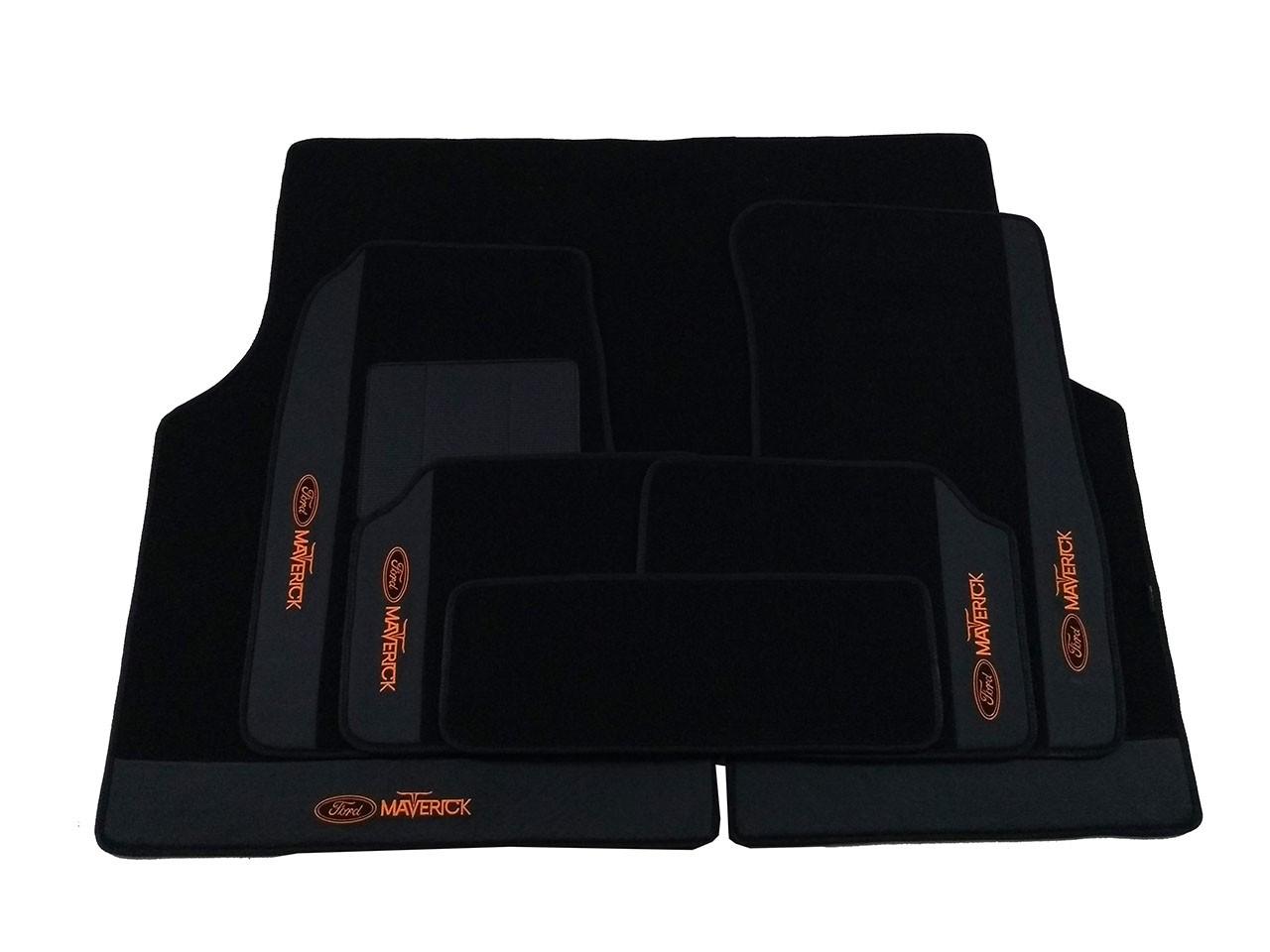 Kit De Tapetes Assoalho Luxo+ Porta Malas 6mm Maverick V8
