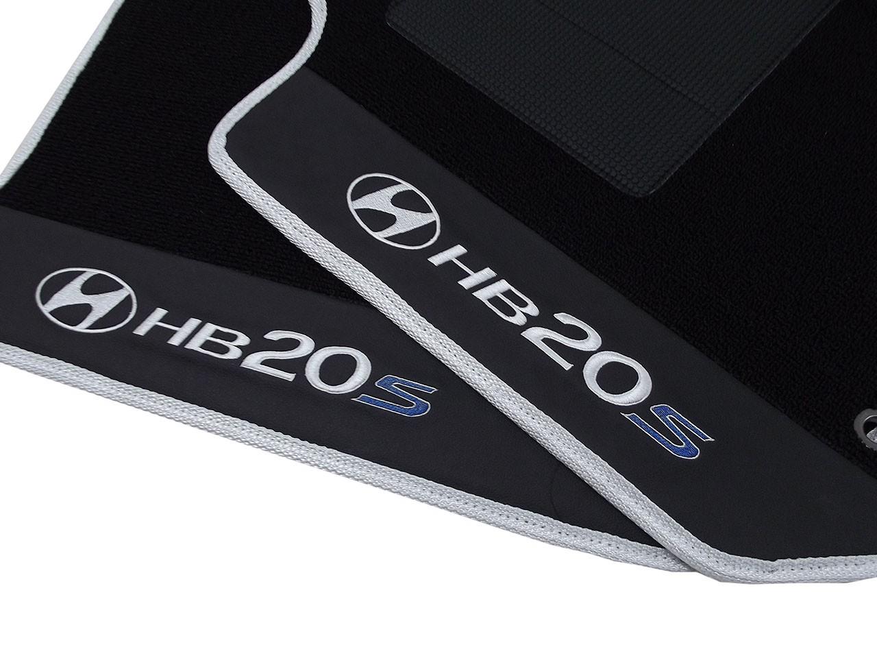 Kit De Tapetes Assoalho Luxo+ Porta Malas Luxo Hyundai Hb20s