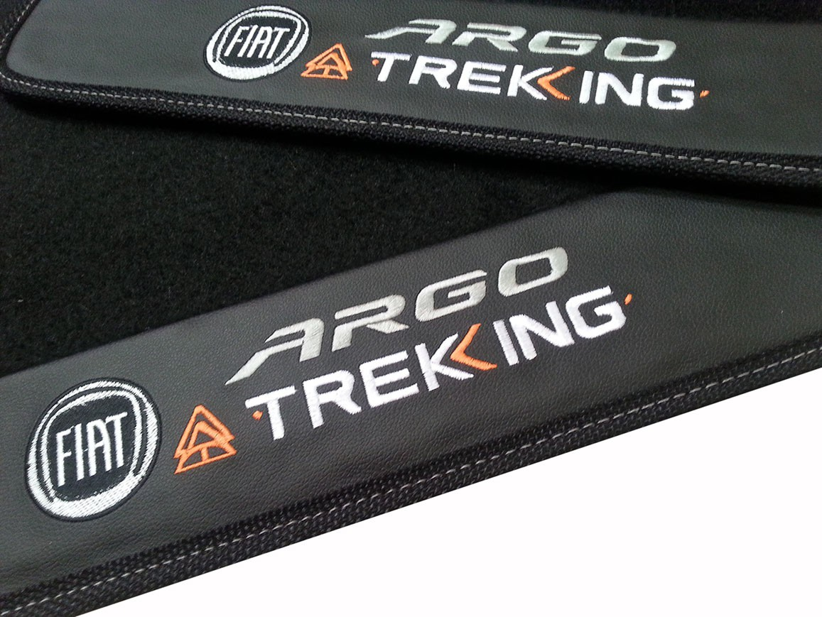 Kit de Tapetes + Porta Malas Fiat Argo Treking Luxo base pinada