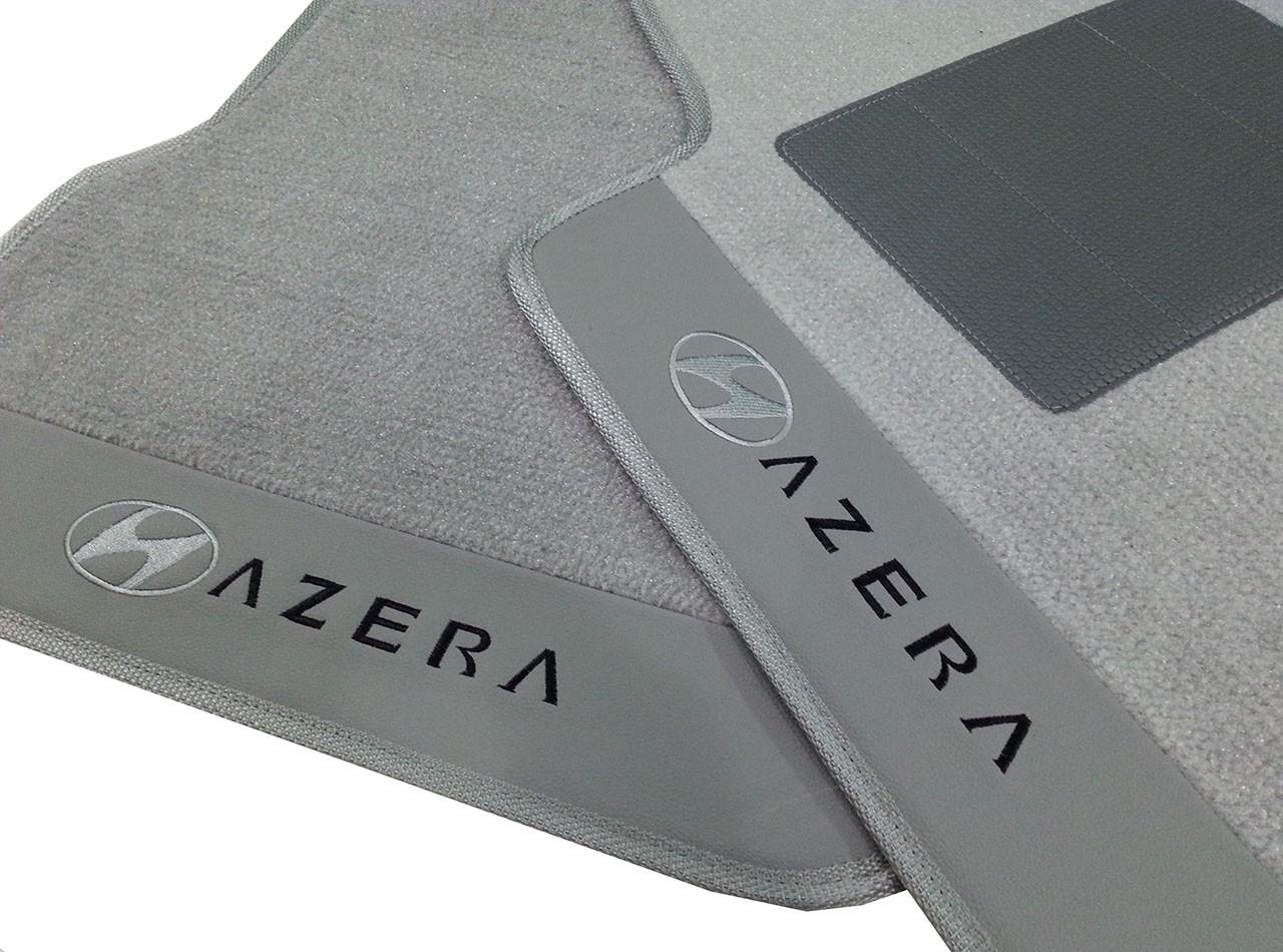 Kit Jogo de Tapete+Porta Malas Azera  Cinza Premium hitto