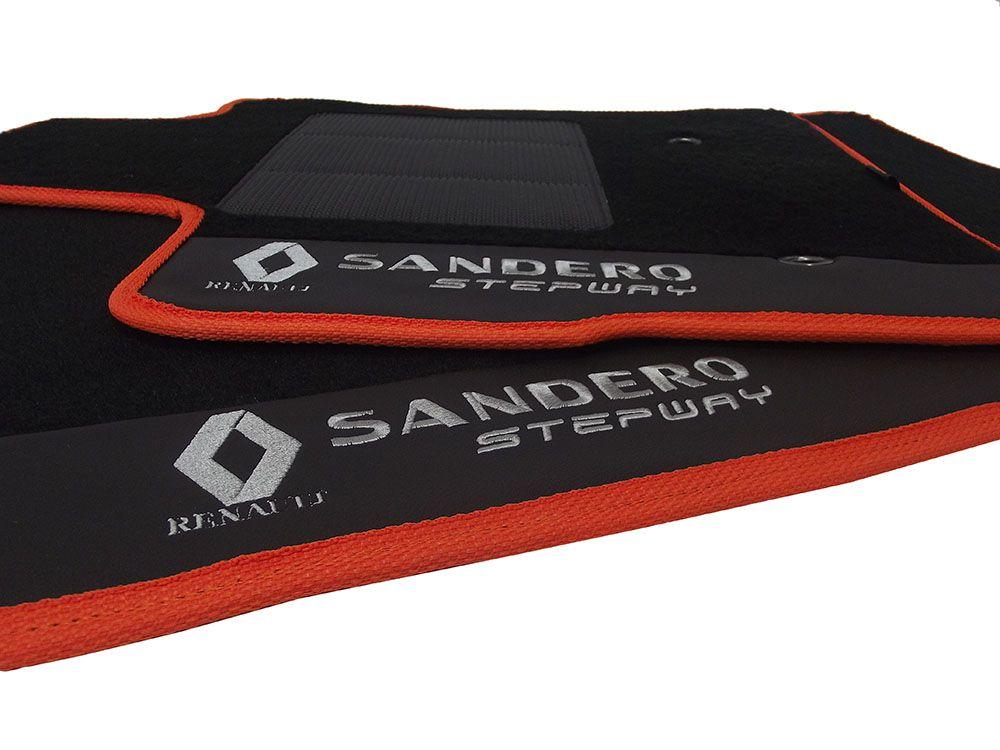 Kit Jogo de Tapete + Porta Malas Sandero Stepway  Premium Base Pinada
