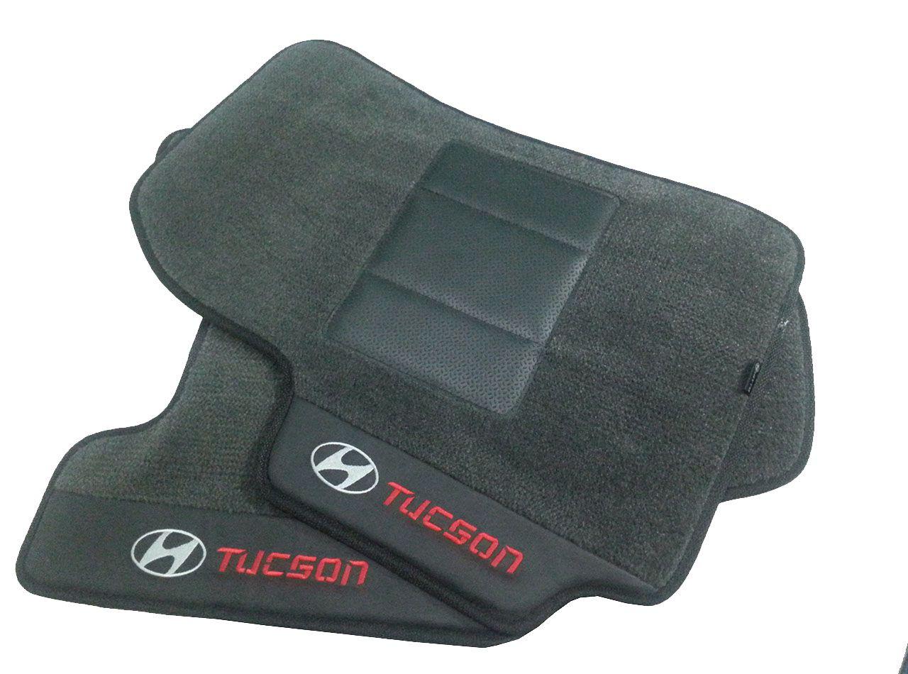 Kit Tucson Assoalho+porta Malas Carpete Chumbo Premium