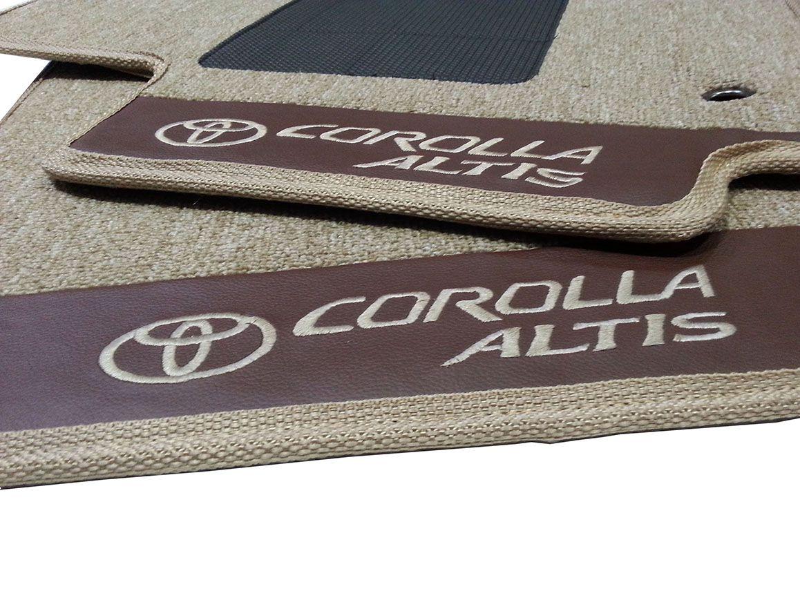 Par Tapetes Corolla Carpete 12mm Premium Original