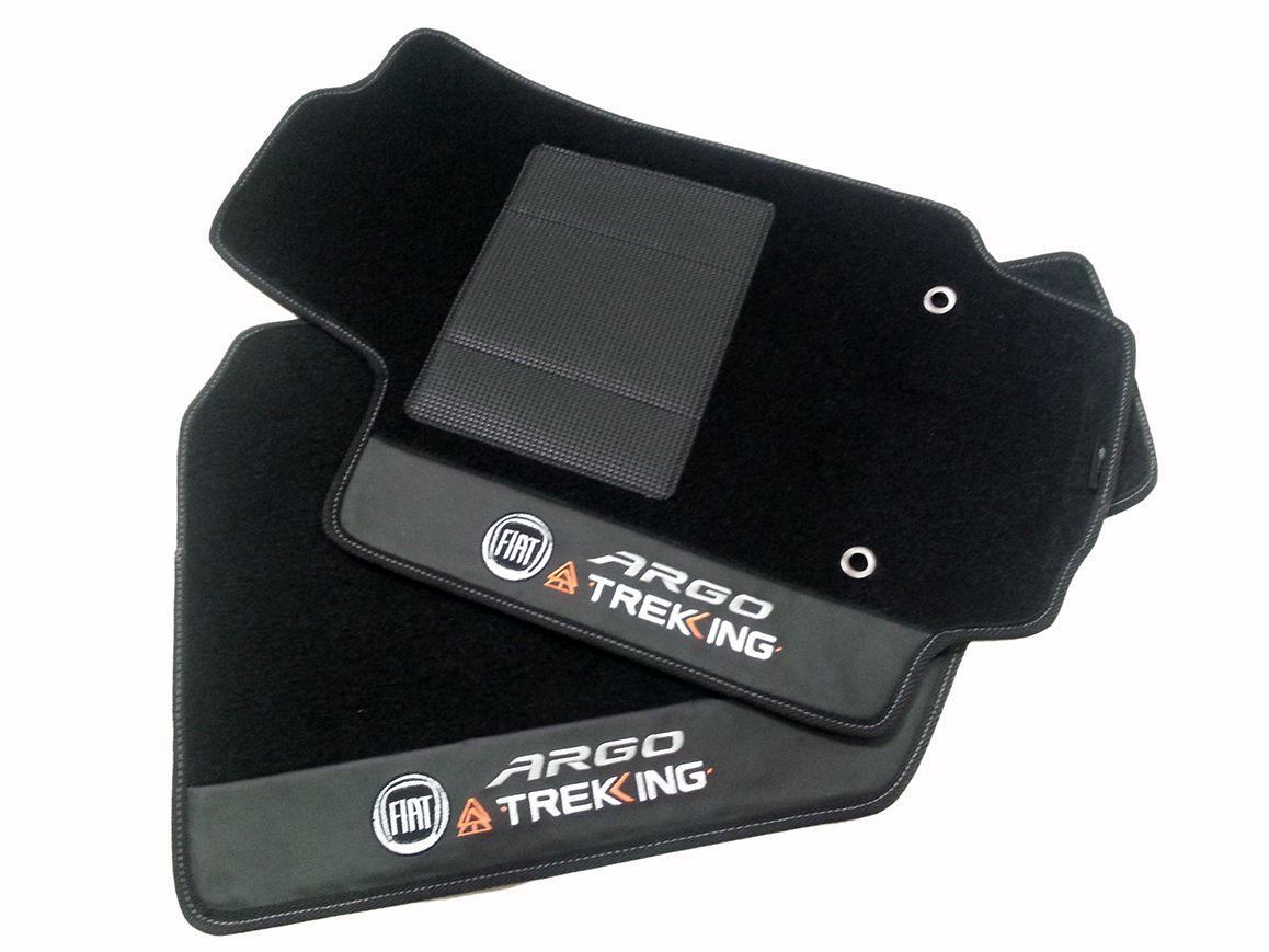 Jogo tapetes Fiat Argo Trekking Carpete Luxo Hitto!