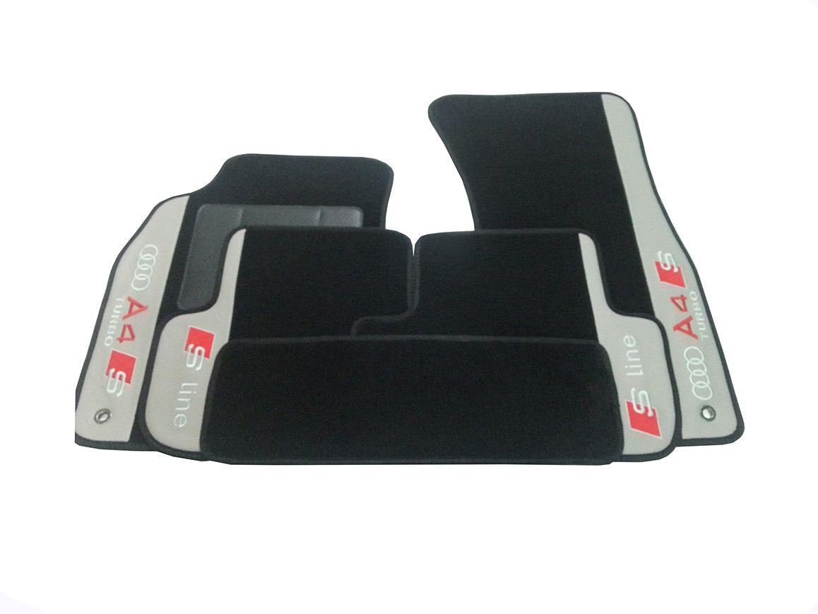 Tapete Audi A4 2005 Carpete Luxo Base Borracha Pinada Hitto