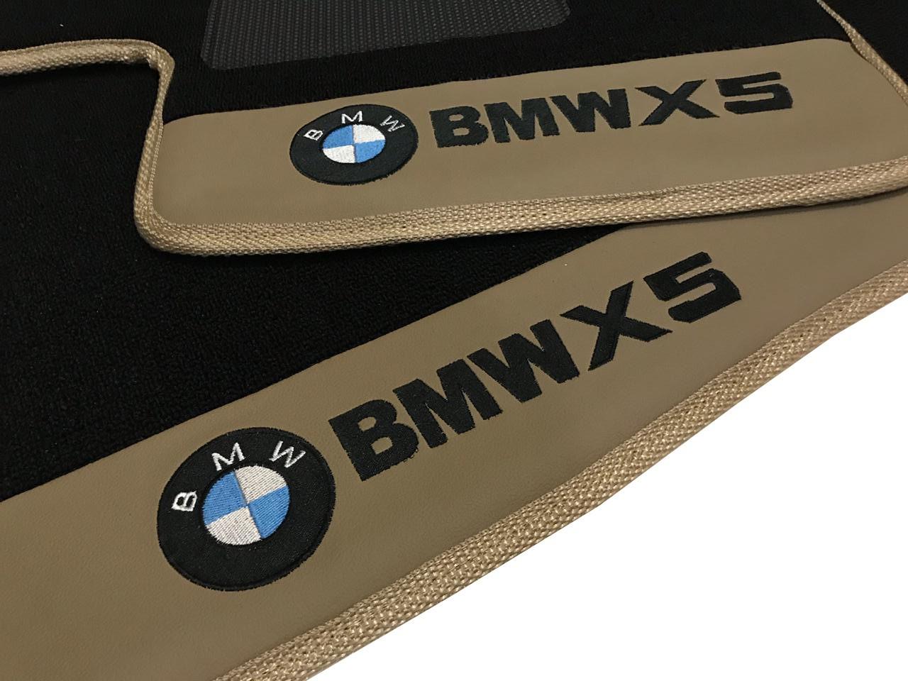 Tapete Bmw X5 Carpete Preto Premium  Base Pinada