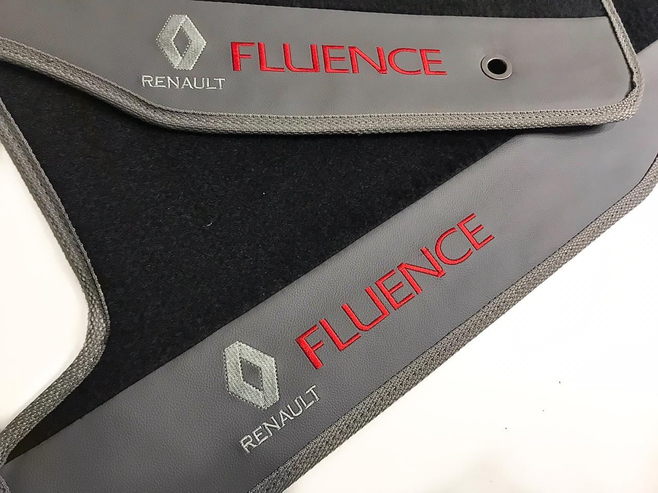 Tapete Carpete Renault Fluence Luxo Borracha Base Pinada