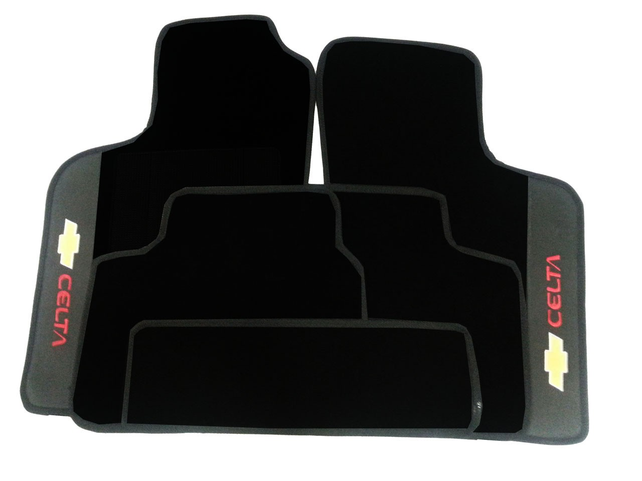 Tapete Chevrolet Celta Borracha Pvc Com Base Pinada