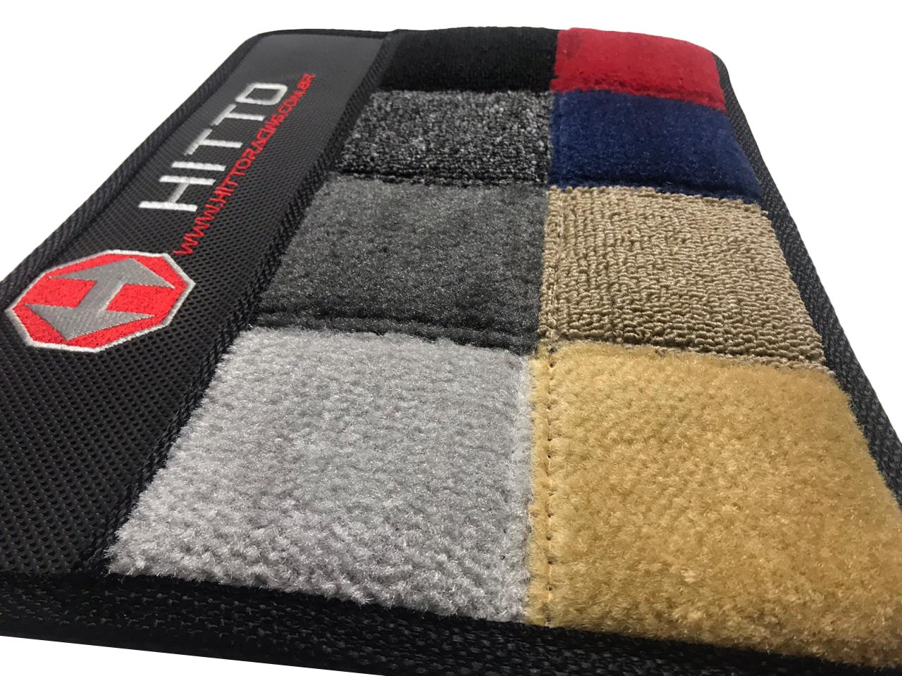 Tapete Focus Carpete Luxo Base Borracha Pinada