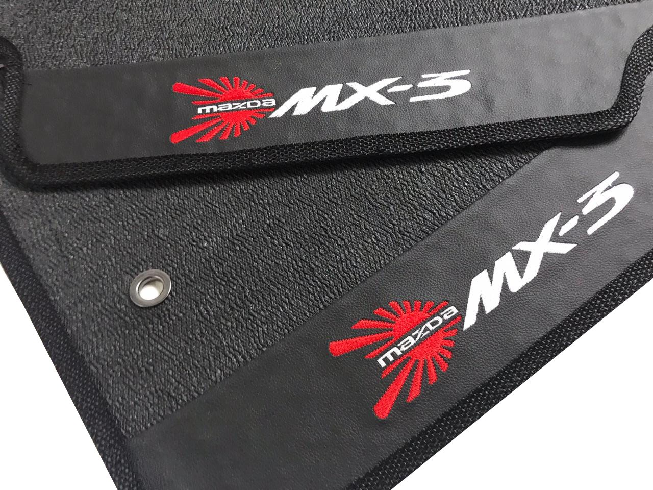 Tapete Mazda Mx-3 Borracha Pvc Base Pinada
