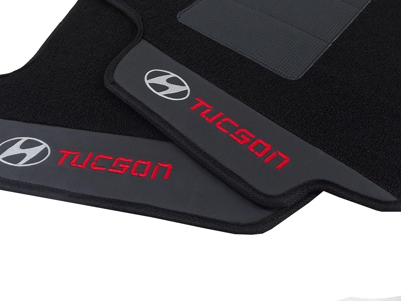 Tapete Original Hyundai Tucson Carpete Luxo Base Borracha Hitto