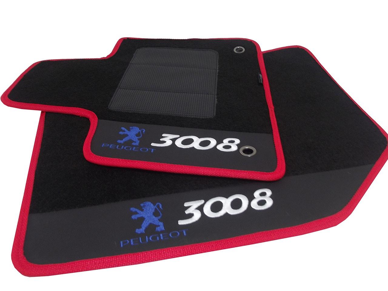 Tapete Peugeot 3008 Carpete Luxo Base Borracha Pinada