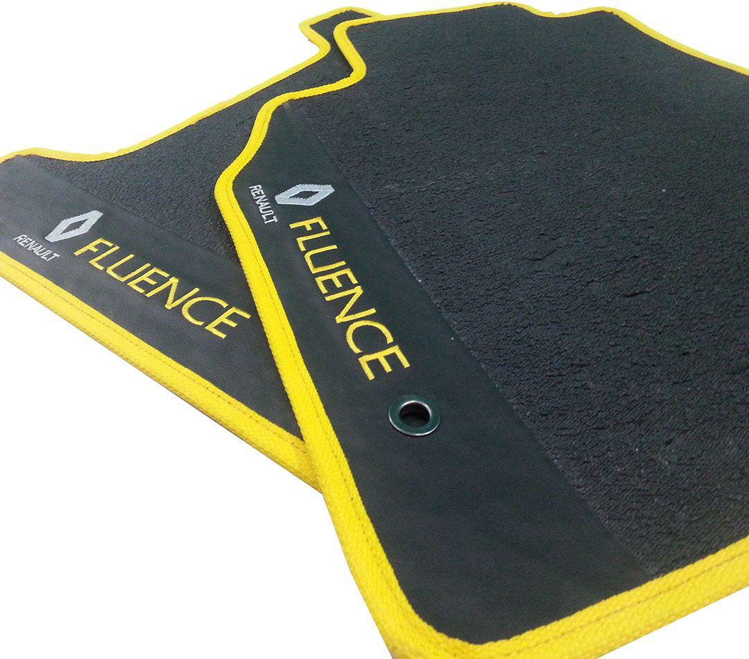 Tapete Renault Duster Borracha Pvc Com Base Pinada