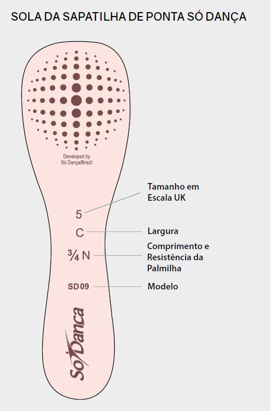 SAPATILHA DE PONTA CLÁUDIA  - SÓ DANÇA (CÓD. SD09)
