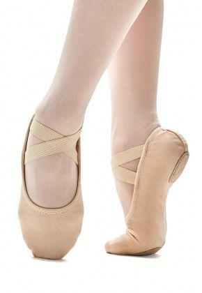 SAPATILHA MEIA PONTA GLOVE FOOT COURO COM STRETCH - CAPEZIO (Cód.2009)