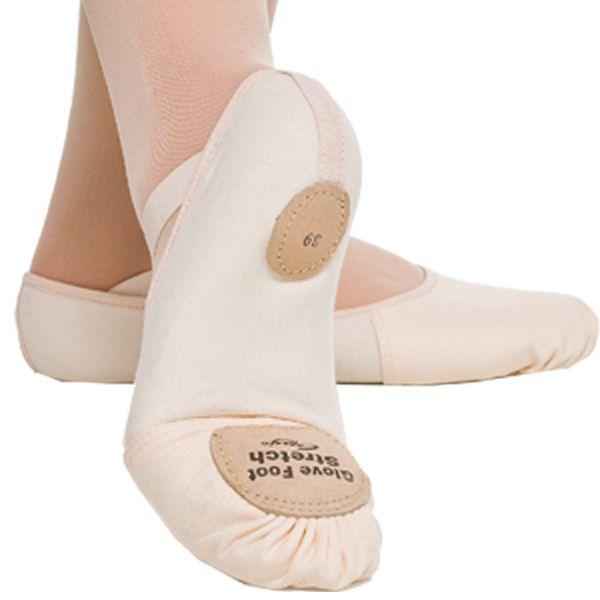 SAPATILHA MEIA PONTA GLOVE FOOT LONA COM STRETCH - CAPEZIO (Cód. 2008)