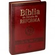Bíblia de Estudo da Reforma Capa Luxo Vinho