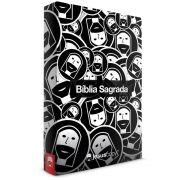 Bíblia Sagrada  - Jesus Copy  - Preto e Branco - NVT - Capa Dura