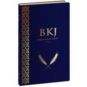 Bíblia King James Fiel 1611 - Capa Azul Marinho Couro Sintético - Slim Ultrafina