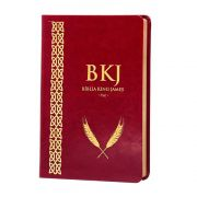 Bíblia King James Fiel 1611 - Capa Vermelha Couro Sintético - Slim Ultrafina