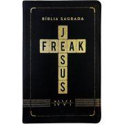 Bíblia Sagrada  Jesus Freak Capa Preta Luxo NVI