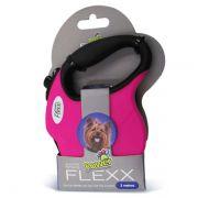 Guia para Passeio Modelo Fita Retrátil Power Flex Rosa - 3 metros -  Tamanho mini - Cães de até 5 Kg