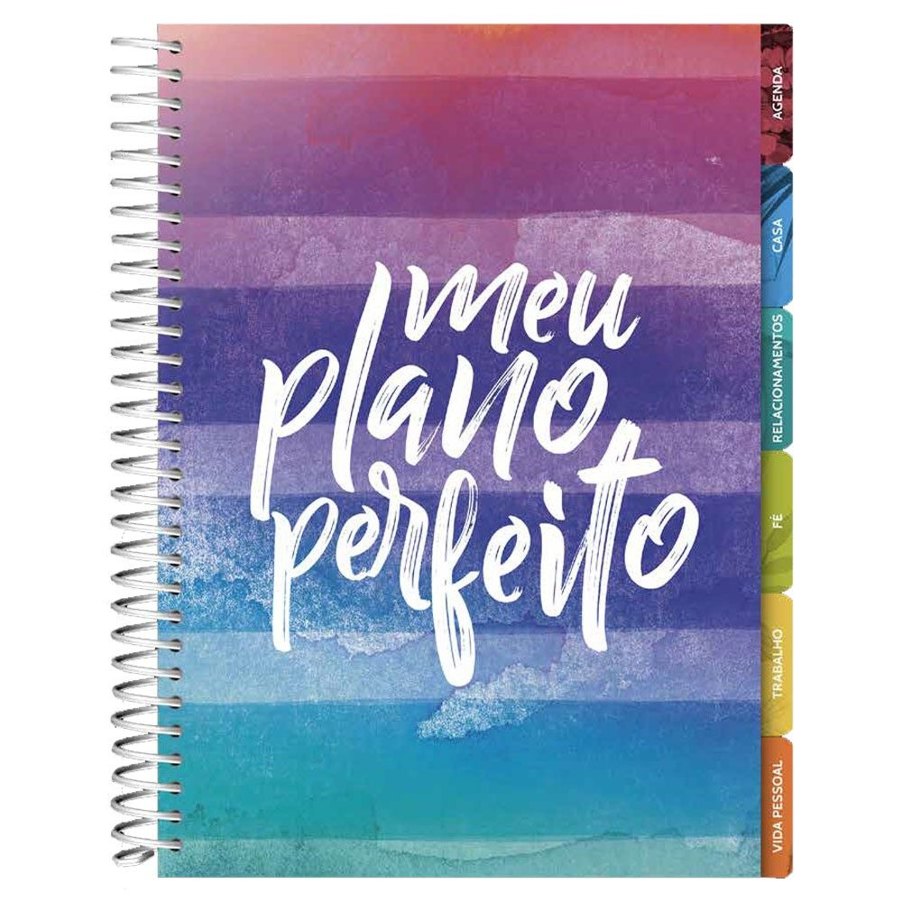 Agenda Planner - Meu Plano Perfeito - Capa Listras Colorida