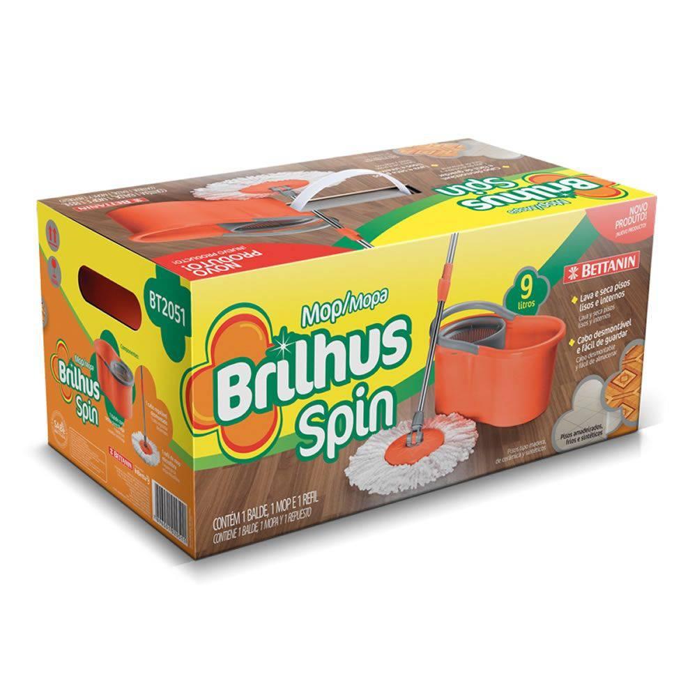 Balde Mop Limpeza Brilhus Spin - Bettanin