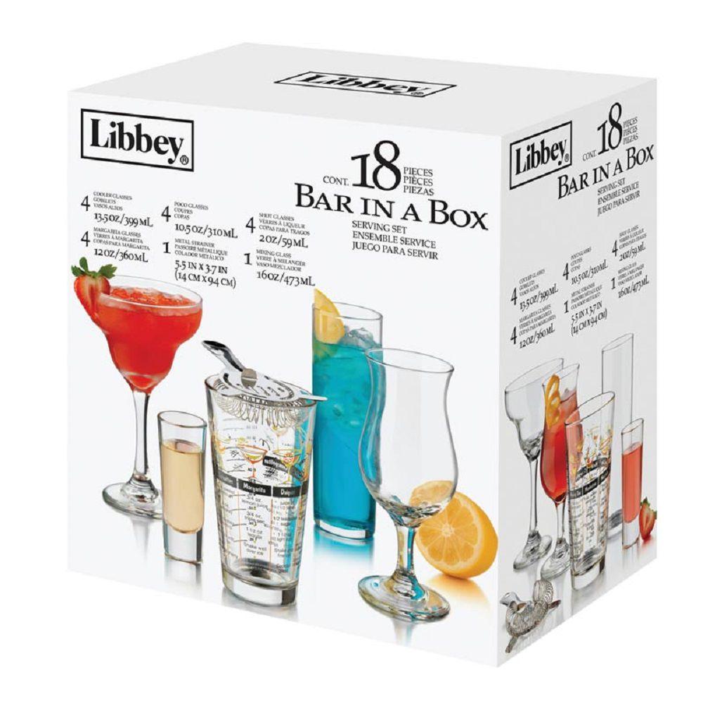 Bar Mix Jogo Shaker 18 peças para preparação de Drinks Bar - Libbey