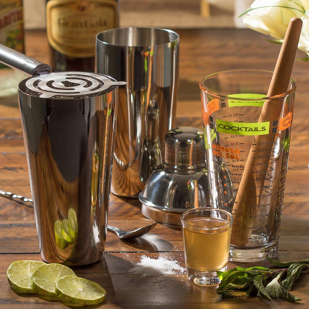 Kit Utensílios para bar residencial - Conjunto 9 peças para preparação de Drinks  - Libbey