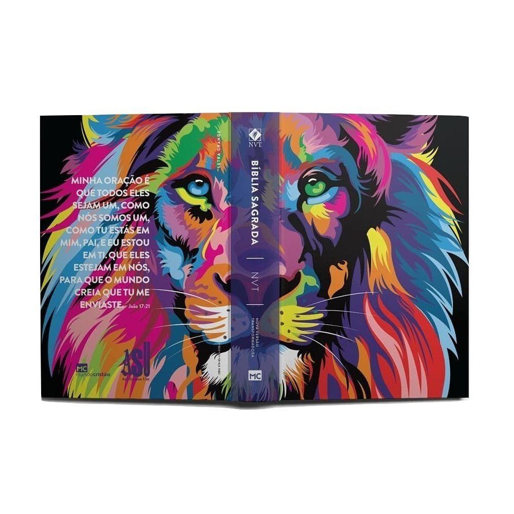 Bíblia Colorida Leão - NVT - Lion Color - Letra Grande - Priscila Alcantara