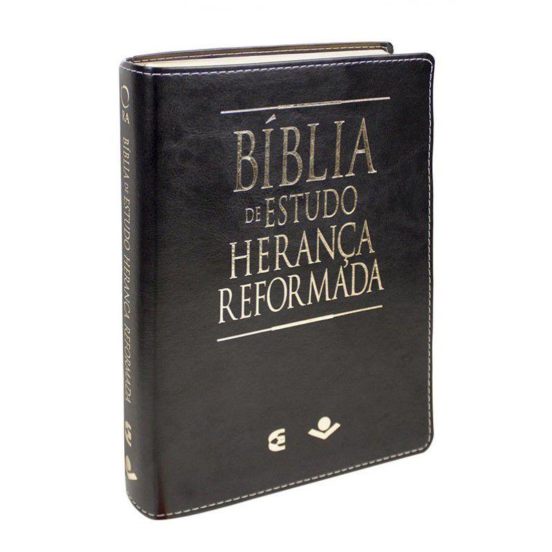 Bíblia de Estudo Herança Reformada RA Capa Preta