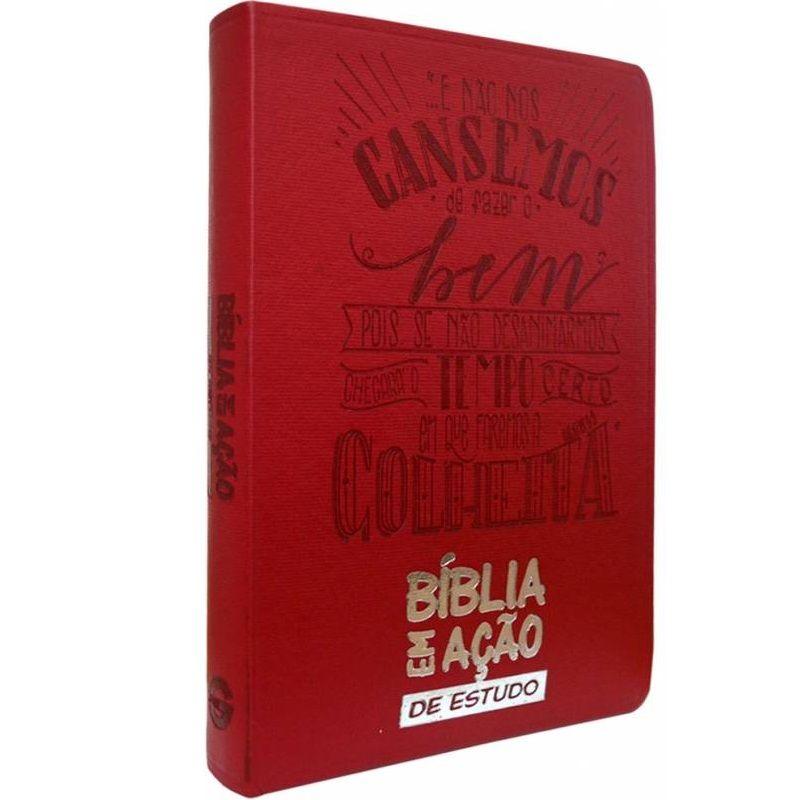 Bíblia Em Ação De Estudo - Capa Vermelha