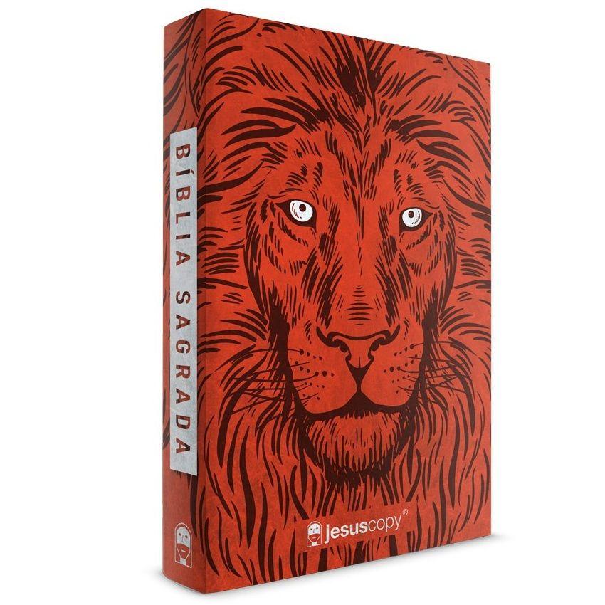 Bíblia Jesus Copy Leão Vermelho Capa Mole