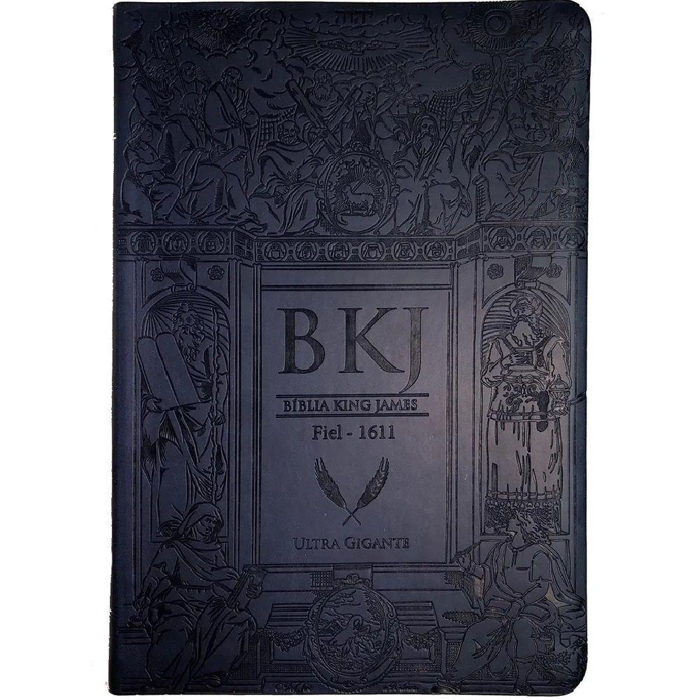 Bíblia King James Fiel 1611 - Letra Ultra Gigante - Azul