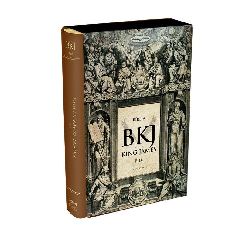 Bíblia King James Fiel 1611 - Luxo Marrom