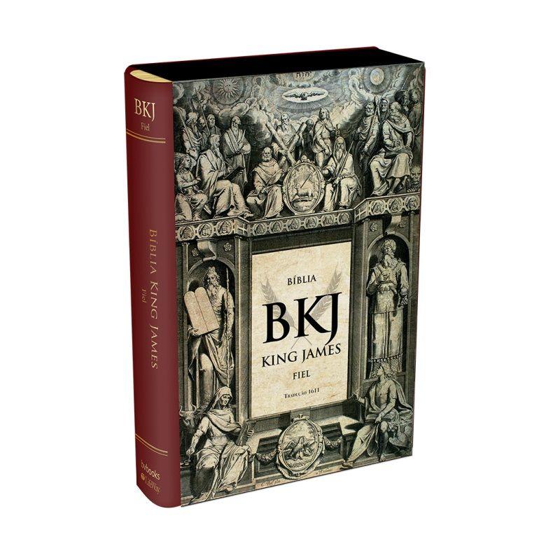 Bíblia King James Fiel 1611 - Luxo Vinho