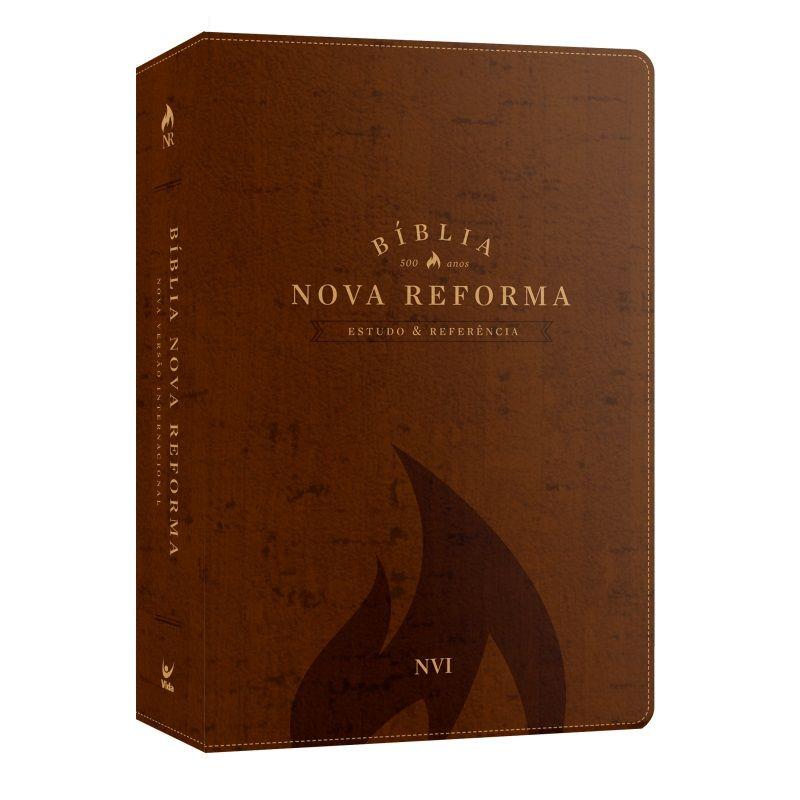 Bíblia Nova Reforma - Estudo e Referência - NVI - Luxo Marrom