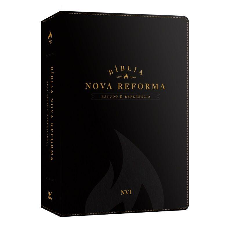 Bíblia Nova Reforma - Estudo e Referência - NVI - Luxo Preta