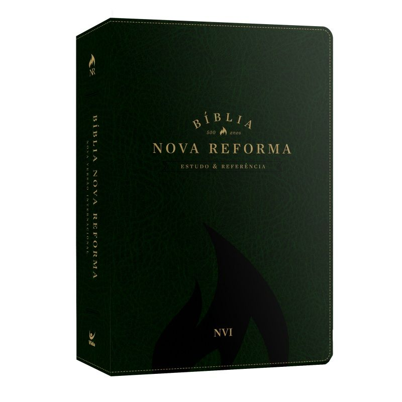 Bíblia Nova Reforma - Estudo e Referência - NVI - Luxo Verde
