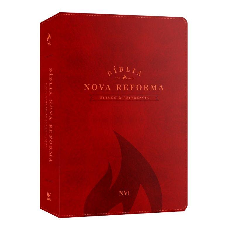 Bíblia Nova Reforma - Estudo e Referência - NVI - Luxo Vermelha