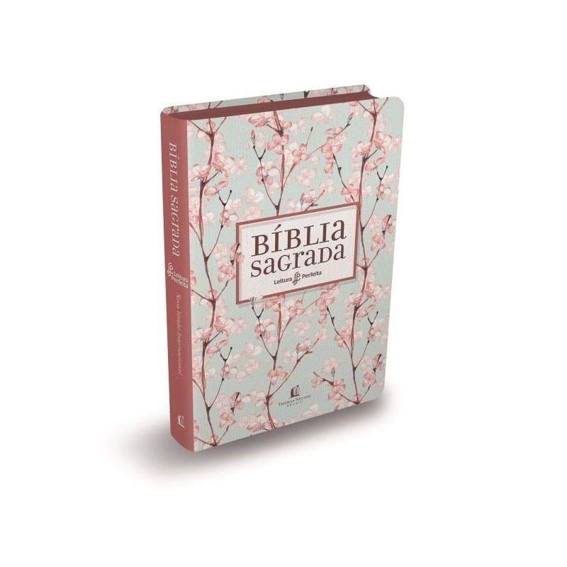 Bíblia NVI Leitura Perfeita - Luxo Cerejeira Rosa