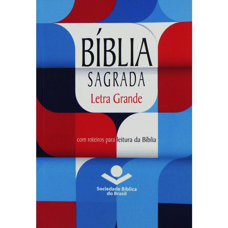 Bíblia Sagrada - Almeida Revista e Atualizada - Capa Brochura  Letra Grande - Evangelismo