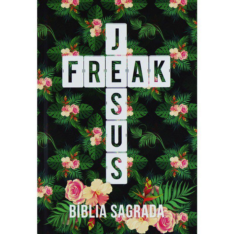 Bíblia Sagrada  Jesus Freak Capa Tropical Luxo NVI