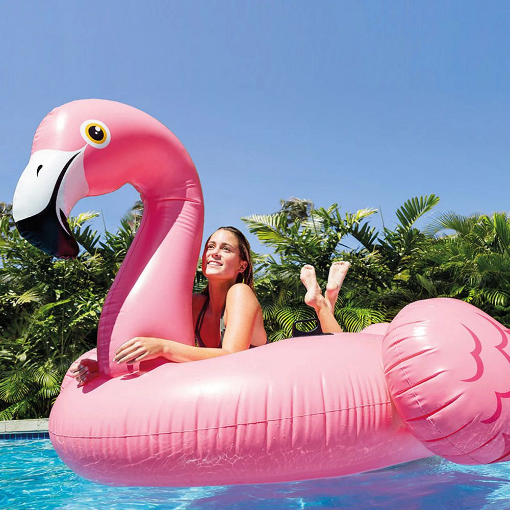 Boia Divertida Piscina Inflável Flamingo Intex