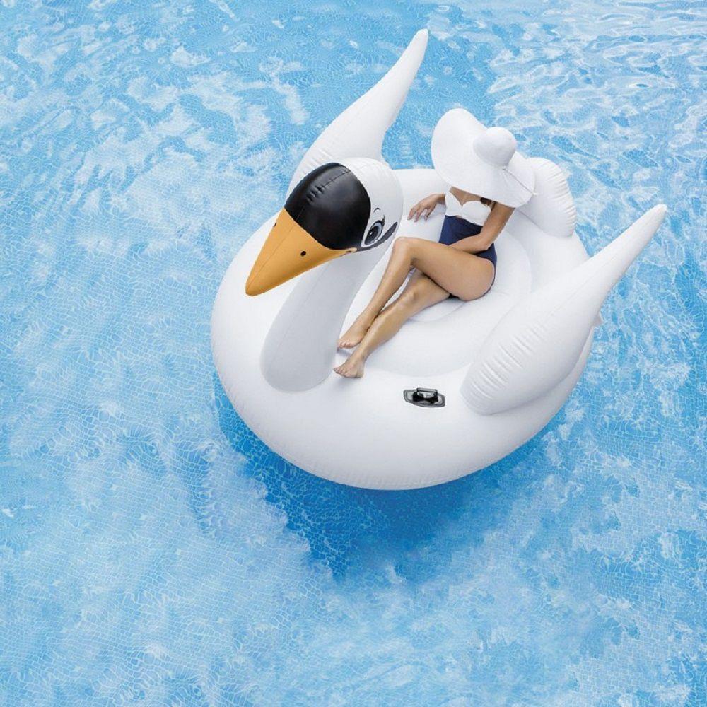 Boia Inflável para piscina Cisne Branco Intex