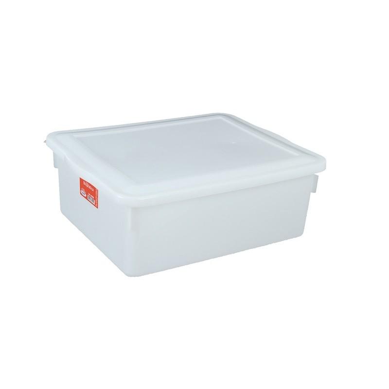 Caixa Organizadora Plástico com Tampa Branca Bioprátika 16,5 Litros  Pleion