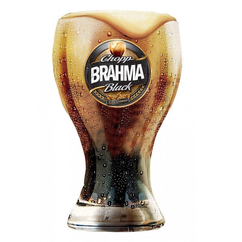 Conjunto com 06 Copos Chopp Brahma Black 430ml