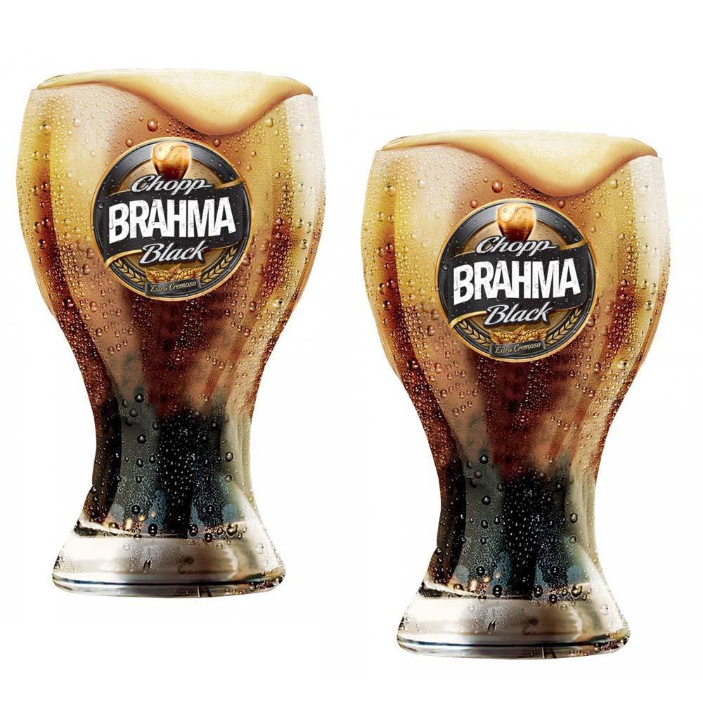 Conjunto de Copos para Cerveja Crisal Chopp Brahma 430 ml - 2 Peças
