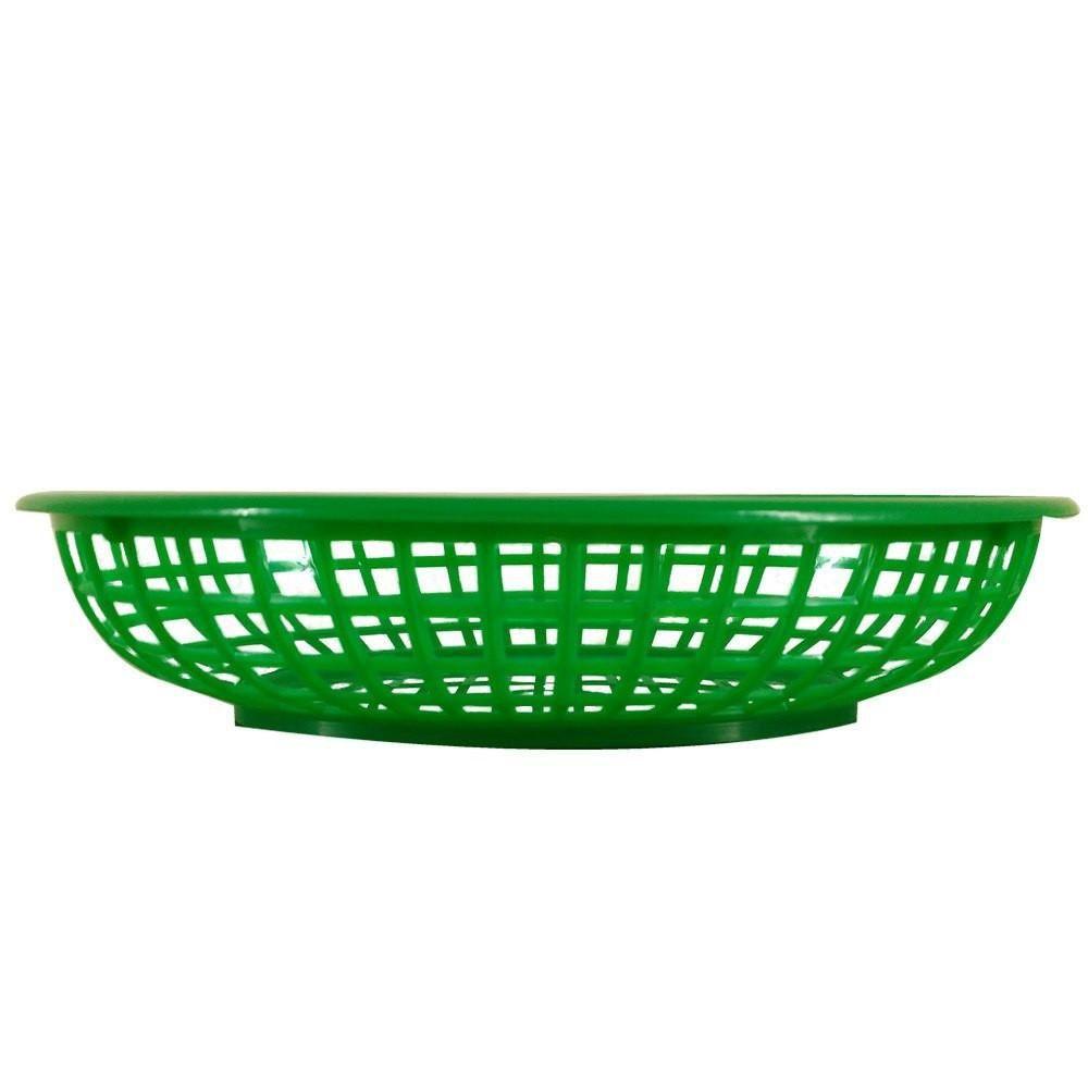 Cesta Oval para Lanches e Porções - Cor Verde